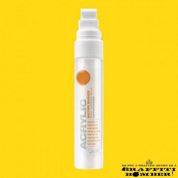 Montana Acrylic Marker 15mm S1010 Yellow EAN4048500323133