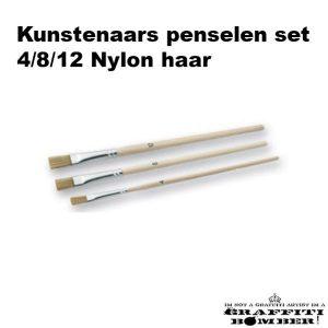 Set Kunstenaars Penselen 3 stuks Nylon 82610899