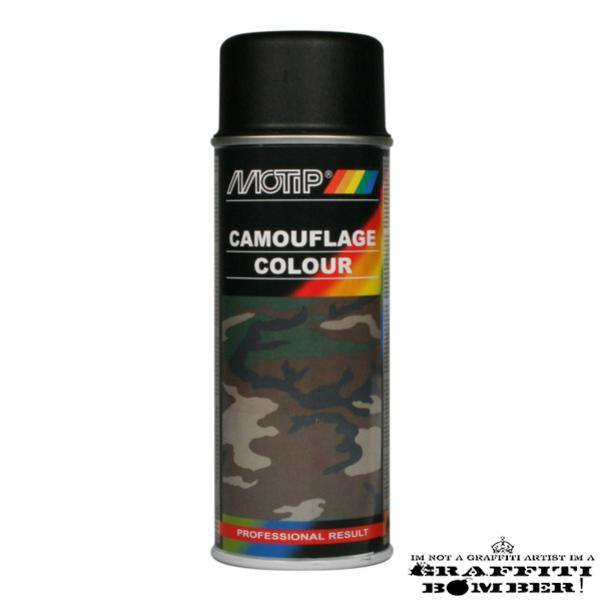 MOTIP Camouflagelak Ral 9021 Zwart 04206