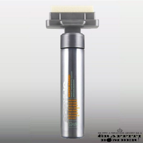 Montana Acrylic Marker 50mm M1100 Silver EAN4048500323515