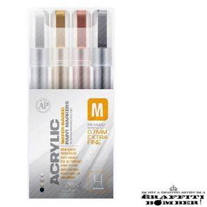 Montana Acrylic set Metallic Marker 4er 0.7mm EAN4048500385940