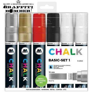 Molotow Chalk/krijt markers set basis TI50903401