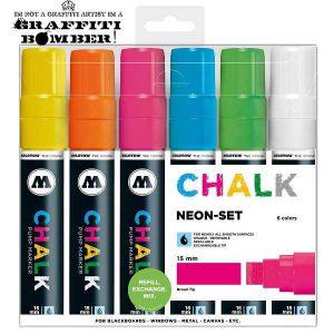 Molotow Chalk/krijt markers set Fluor TI50903501