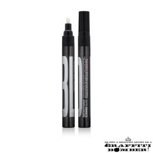 BOLD Ultra Black Ink Marker Montana CHISEL TIP 3mm Black EAN4048500468308