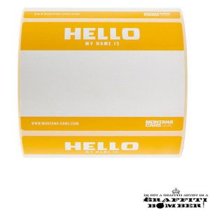 "Stickers ""Hello My Name Is"" 9×12 cm Oranje"