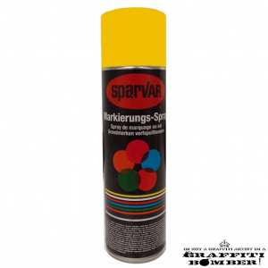 1018-1023UK Sparvar MS Markeer spray RAL 1023 Verkeersgeel Bodemventiel 500 ml
