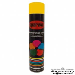 1030-1023UK Sparvar MS Markeer spray RAL 1023 Verkeersgeel Bodemventiel 750 ml